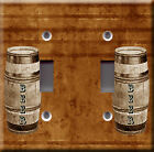 Light Switch Plate Cover - Barrel of beer background brown - Home bar pub deco
