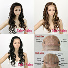 HAND TIED SYNTHETIC LACE FRONT FULL WIGS Glueless Curly Heat Safe 26 Series
