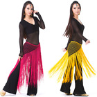 SH12# Argentina Crochet Long Fringe Triangle Belly Dance Hip Scarf 13 Colors