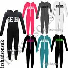 KIDS GIRLS BOYS GEEK PRINT ALL IN ONE NIGHTWEARS PJ'S 100% COTTON VARIOUS COLOUR