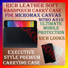 RICH LEATHER SOFT CARRY CASE for MICROMAX CANVAS NITRO A310 HANDPOUCH COVER NEW