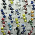 15pc-50pcs Wholesale Jewelry Lots Fashion Mixed Color beautiful Resin Ball Rings