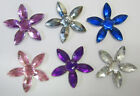 50 Self Adhesive Rhinestone Flower Embellishments for Card Making Scrapbooking