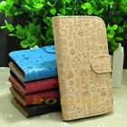 New Graffiti pattern PU leather flip case cover for Sony phone credit card slots