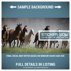 Rear Window Truck Graphic Decal - Wild Horses Running (a) - 3 Sizes