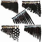 "100G MIX-WAVE 3BUNDLES 10""30"" SILKY BLACK BRAZILIAN/PERUVIAN/INDIAN/ HUMAN HAIR"