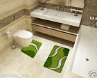 Bath Mat Toilet Rug Set 3 & 2 piece - Non-Slip Bathroom Pedestal Washable