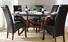 Dark Townhouse & Boston Oval Extending Dining Table and 4 6 Chairs Set (Brown)