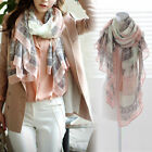 Vintage Lady Soft Long Neck Large Scarf Wrap Shawl Pashmina Stole Scarves