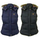 Womens New Brave Soul Gilet With Hood Sizes UK 8 - 16