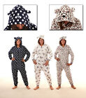 GORGEOUS LADIES ANIMAL CAT LEOPARD ONESIES ALL IN ONE PYJAMAS 3 DESIGNS RRP £35