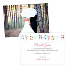 Personalised wedding thank you cards SHABBY CHIC BUNTING FREE ENVELOPES & DRAFT
