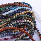 Wholesale Natural Gemstone Beads Charm Round Spacer Loose Beads 4MM 6MM 8MM 10MM