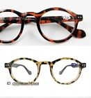 Vintage round geek style men women Reading glasses 1 1.5 2 2.5 3 black/tortoise