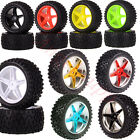 """Set RC 1:10 Off Road Buggy Knobby Tyre 06010 06026 2.2"""" Wheel Rims HSP Redcat"""