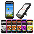 For ZTE Warp Sync N9515 Heavy Rugged Hybrid Impact Hard Case Cover Kickstand