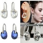 Womens Fashion Ctue Earrings Rhinestone Dangle Drop Hook Earrings Ear Studs