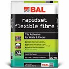 BAL Rapidset Flexible Fibre Stone/Ceramic Tile Adhesive For Walls & Floors 20Kg