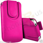 Hot Pink Magnetic PU Leather Pull Tab Flip Case Cover For Various Nokia Phones