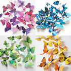 12Pcs 3D Butterfly Wall Decals Removable Sticker Wedding Nursery Decor Magnets