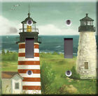 Light Switch Plate Cover - Boats and lighthouse view - Maritime marine sea scene