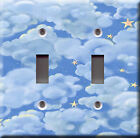 Light Switch Plate Cover - Under the stars - Beautiful evening sky cloudy starry