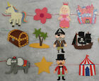 Vibrant Childrens Felt Bunting Bedroom Circus Pirate Princess Unicorn Boys Girls