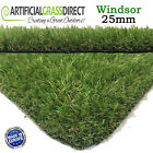 ARTIFICIAL GRASS 25MM THICK WINDSOR FAKE LAWN GARDEN GRASS FREE FAST DELIVERY
