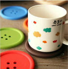 coasters Candy colored silicone round buttons Nonslip Drinks coasters  A168