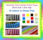 90cm x 5cm miniature mini wood picket fence - easy to cut to size - fairy garden