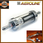 Universal Chrome / Real Glass Fuel Petrol Diesel Inline Filter