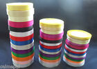 22 Metres of Satin Ribbon Craft Wedding Gift  15 colour -3 sizes -25 Yards rolls