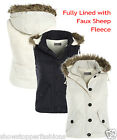 Size 8 10 12 14 16 Womens Fleece GILET BODYWARMER Ladies JACKET PADDED Waistcoat