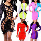 Womens Outfit Long Sleeve Slim Bandage Sexy Clubwear Bodycon Party Evening Dress