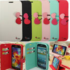 Cherry Flip Leather Card Wallet Case Cover Satnd For Samsung Galaxy S5/4/3 Note4