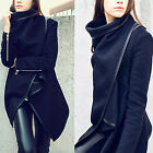2014 New Trend Women Winter Warm Zipper PU Edge Trench Coat Outwear Jacket Parka