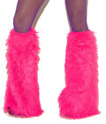 Elegant Moments Neon Furry Boot Covers Leg Warmers, Pink Blue Purple Green #2427