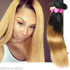 New Fashion 50g STRAIGHT Ombre 1B/27# MALAYSIAN HUMAN HAIR Extensions Wefts