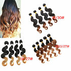 "TOP! 50g Ombre 1b/33/27#, 1b/30#, 1b/27# BRAZILIAN HUMAN HAIR12""30"" BODY WEAVE"