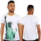 Rock On Liberty Print Fitted T-Shirt Urban life By Monkey Business Hip Hop