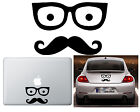 Vinyl cut sticker GLASSES WITH MUSTACHE.    10 years. High Quality. Gafas Bigote