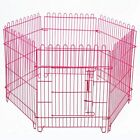 US STOCK 6 Panels Pet Playpen Cage Foldable Kennel for Puppy Dog Cat Blue/Red