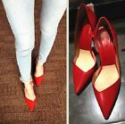 Women's Red Sexy High Heels Pumps Party Queen Point Toe Stiletto Heel Shoes