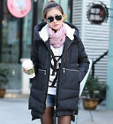 Womens Hooded Casual Duck Down Coat Thick Military Jacket Overcoat Parka XXS-L
