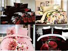 Quilted Double King size 3D Bedspread  Floral Monroe 2x pillow case GIFT