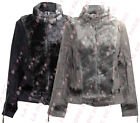 P12 NEW WOMENS LADIES FAUX FUR LINED SUEDE JACKET IN SIZE 08-14