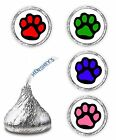 108 COLOR PAW PRINT BIRTHDAY PARTY FAVORS KISSES LABELS STICKERS ENVELOPE SEALS