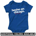 Hecho en Chicago One Piece - Boricua Baby Infant Creeper Romper - NB to 24M