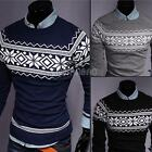 New Men Casual Slim Fit Knitted Cardigan Pullover Jumper Sweater Tops Coat M-XXL