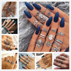 12pcs Silver/gold Boho Stack Plain Above Knuckle Ring Midi Finger Tip Rings Set